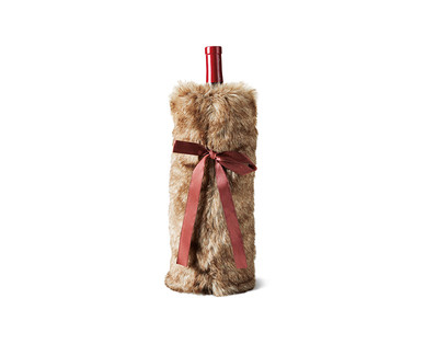 Merry Moments Faux Fur Wine Bag View 1