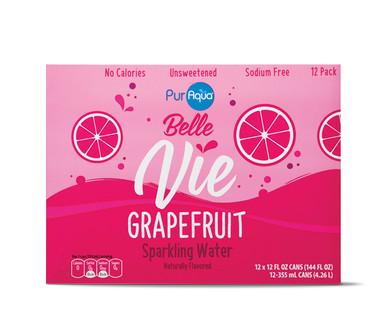 PurAqua Belle Vie Sparkling Flavored Water, Grapefruit