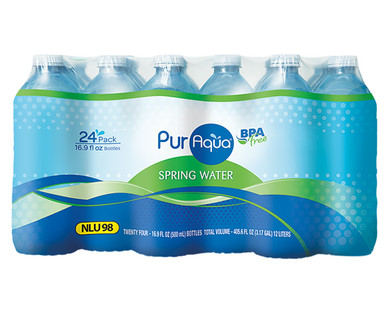 PurAqua 24 Pack Natural Spring Water