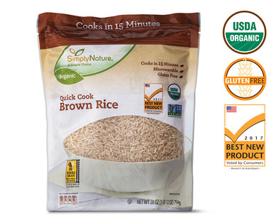 SimplyNature Organic Quick Cook Brown Rice