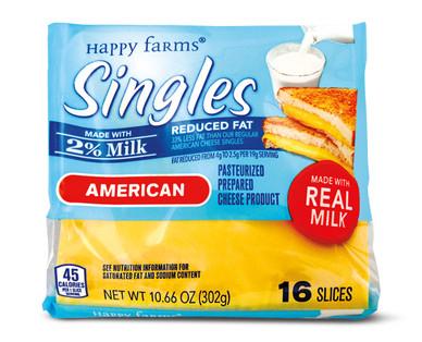 Happy Farms 2% Milk American Singles