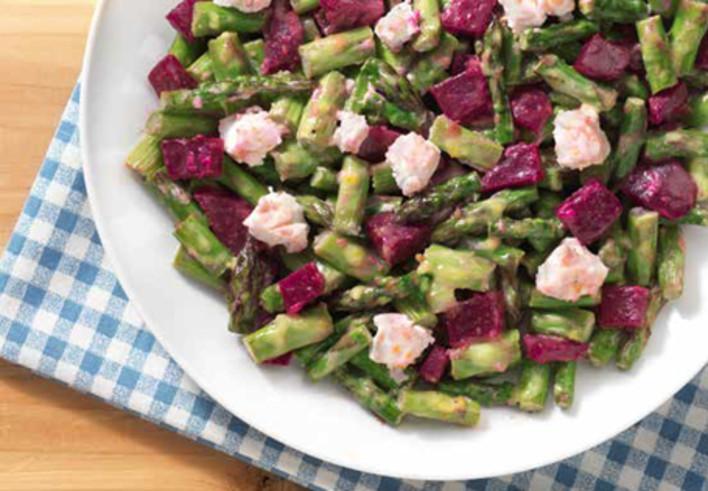 Beet and Asparagus Salad with Honey Lemon Vinaigrette
