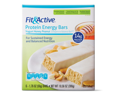 Fit and Active Yogurt Honey Peanut Protein Meal Bars