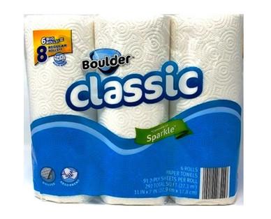 Boulder 6 Big Roll White Paper Towel