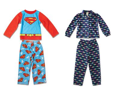 Children's Licensed Fleece Pajama Set View 1
