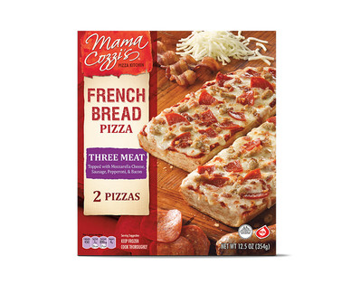 Mama Cozzi's Pizza Kitchen Three Meat or Five Cheese & Garlic French Bread Pizza View 1