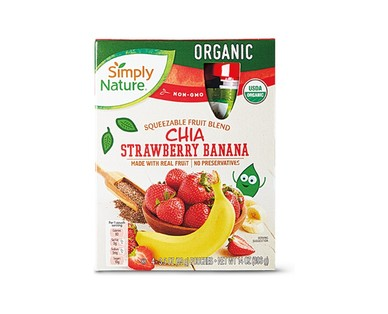 Simply Nature Chia Blackberry or Strawberry Banana Superfruit Squeezies View 2