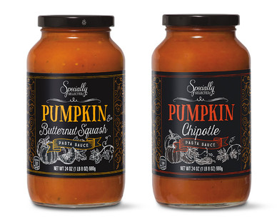 Specially Selected Pumpkin & Butternut Squash or Pumpkin Chipotle Pasta Sauce