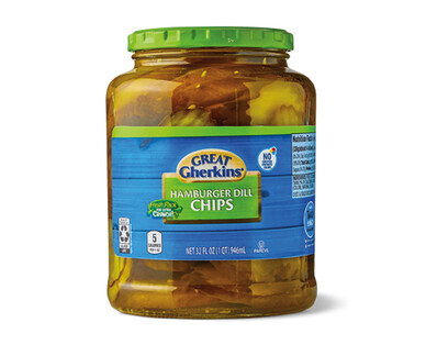 Great Gherkins Hamburger Dill Pickle Chips