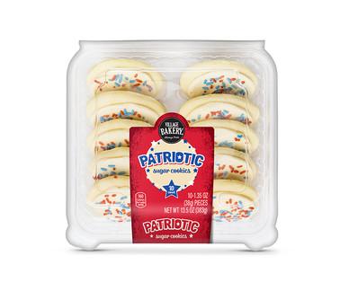 Village Bakery Patriotic Frosted Sugar Cookies