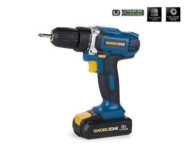 WORKZONE 12V Lithium-Ion Cordless Drill View 1
