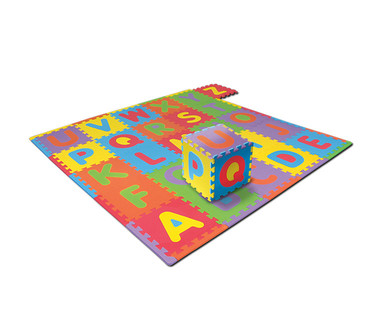"Little Journey Alphabet or 17"" Shapes Foam Mat View 1"