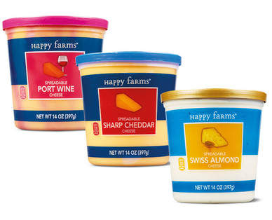 Happy Farms Spreadable Cheese Cups Assorted Varieties