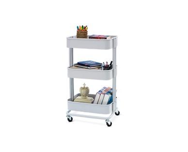 SOHL Furniture 3 Tier Metal Rolling Cart View 1