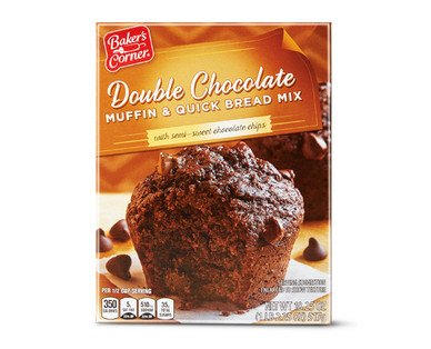 Baker's Corner Muffin Mix Blueberry or Double Chocolate