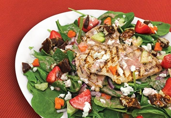 Hearts Aflutter Chicken Strawberry Salad