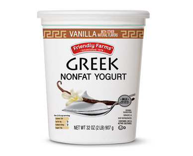 Friendly Farms Vanilla Nonfat Greek Yogurt
