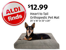 ALDI Finds: Heart to Tail Orthopedic Pet Mat. $12.99. View details.