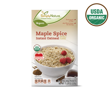 SimplyNature Organic Maple Spice Instant Oatmeal