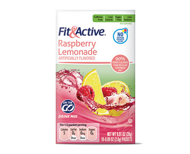 Fit & Active Single Serve Raspberry Lemonade Drink Mix