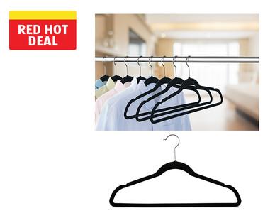 Easy Home 50-Pack Velvet Touch Hangers View 1