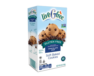 liveGfree Gluten Free Chocolate Chip Soft Baked Cookies