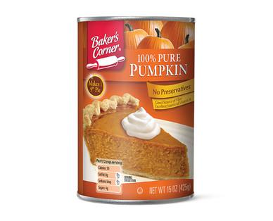 Baker's Corner 100% Pure Canned Pumpkin