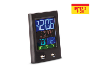 Bauhn Alarm Clock With USB Charging
