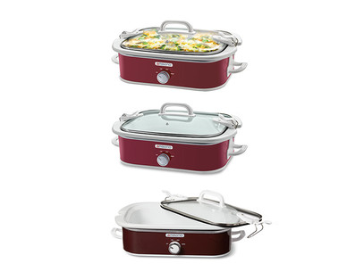 Ambiano 3.5-Quart Casserole Slow Cooker View 2