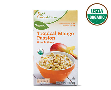 Simply Nature Organic Tropical Mango Passion Granola Cereal
