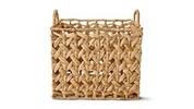 Huntington Home Open Weave Water Hyacinth Basket