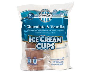 Sundae Shoppe Chocolate and Vanilla Ice Cream Cups