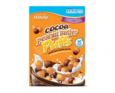 Millville Cocoa Peanut Butter Puffs