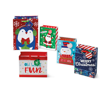 Merry Moments 5-Pack Premium Gift Bags View 3