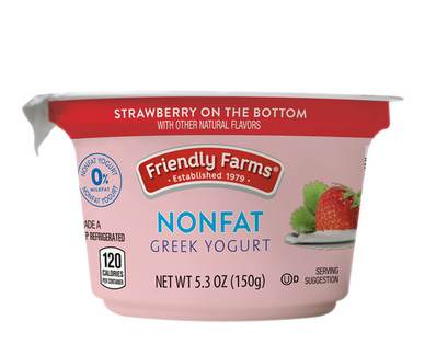 Friendly Farms Strawberry Nonfat Greek Yogurt