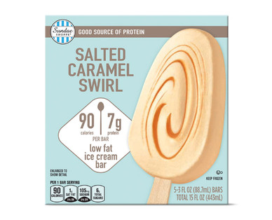 Sundae Shoppe Salted Caramel Swirl Protein Ice Cream Bars