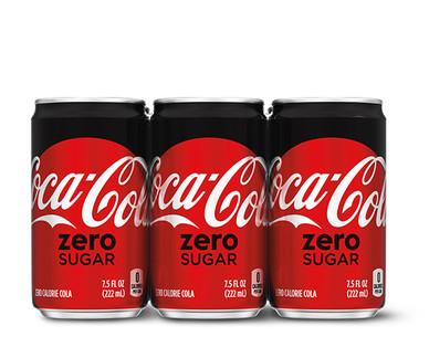 Coca-Cola Zero Sugar Mini Can 6-pack