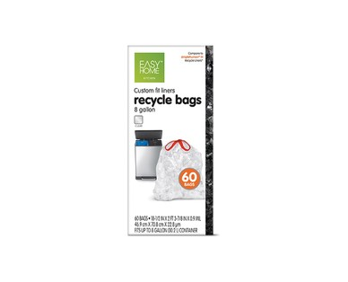 Easy Home Dual Trash/Recycle 8-Gallon Liners View 3