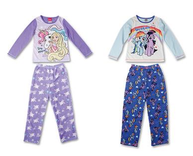 Children's Licensed Fleece Pajama Set View 4