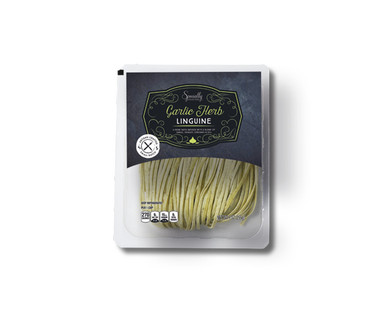 Specially Selected Cracked Pepper Fettuccine or Garlic Herb Linguine View 2