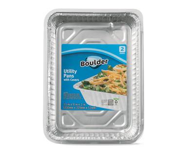 Boulder 2 Pack Utility Foil Pan with Lid