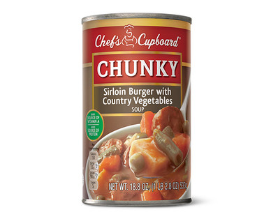 Chef's Cupboard Chunky - Sirloin Burger with Country Vegetables Soup