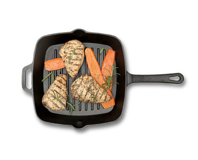 Crofton Pre-Seasoned Cast Iron Grill or Fry Pan View 1