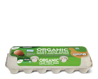 Simply Nature Grade A Organic Cage Free Brown Eggs