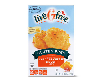 LiveGFree Gluten Free Cheddar Cheese Biscuit Mix