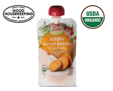Little Journey Apple Sweet Potato Baby Food Puree