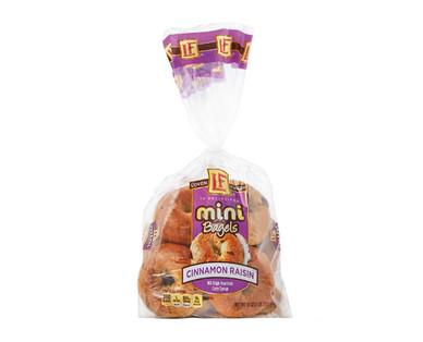 L'oven Fresh Mini Cinnamon Raisin Bagels