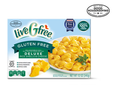 liveGfree Gluten Free Deluxe Shells & Cheese