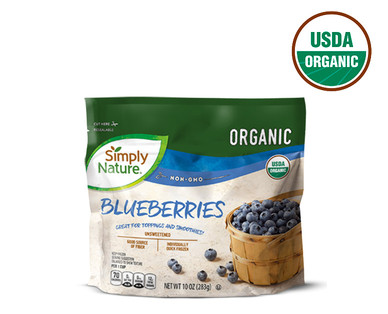 Simply Nature Frozen Organic Blueberries