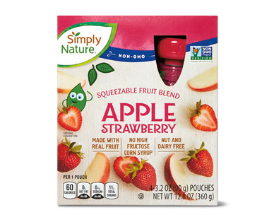 Simply Nature Apple Strawberry Fruit Squeezies